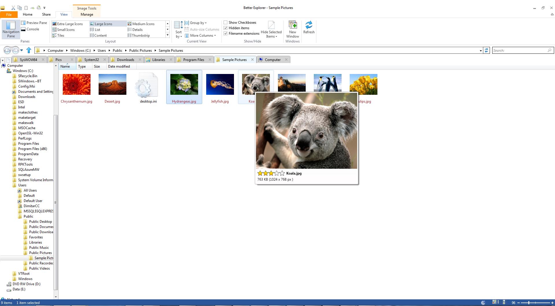 Better Explorer screenshot